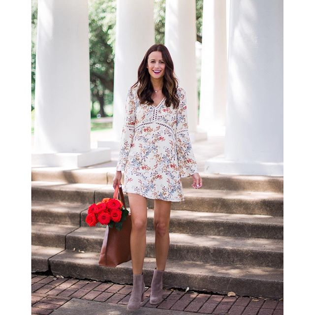 Today was amazing and I just want to say thank you for all of your kind wishes!!! I have so much amazing stuff coming up this week and I just couldn't wait to get one of my favs up tonight!!! This dress from @Nordstrom transitions PERFECTLY into Fall!! I
