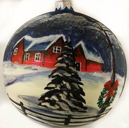 126 best Unique Christmas Baubles images on Pinterest  Glass