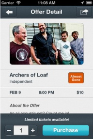 New App for concert tickets!