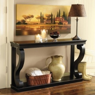 Benedetta Console  Consoles are so versatile.  Use them in an entry topped off with a lamp and collectibles etc.  Ballard Designs