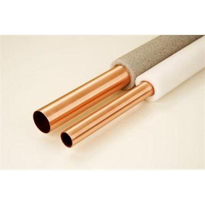 Tubulação cobre com isolante para passagem de água quente.