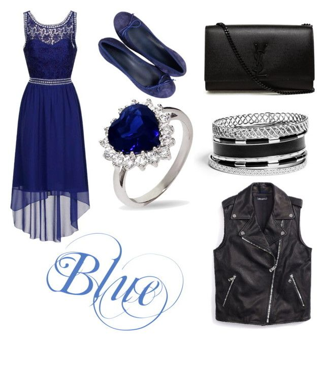 """""""Blue"""" by simdanjoh on Polyvore featuring Dorothy Perkins, Yves Saint Laurent, GUESS and Tommy Hilfiger"""