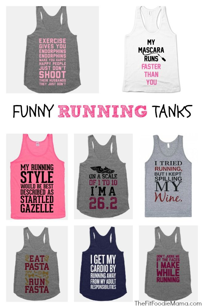 Fit'n'Fashionable: Funny Running Tank Tops | TheFitFoodieMama.com