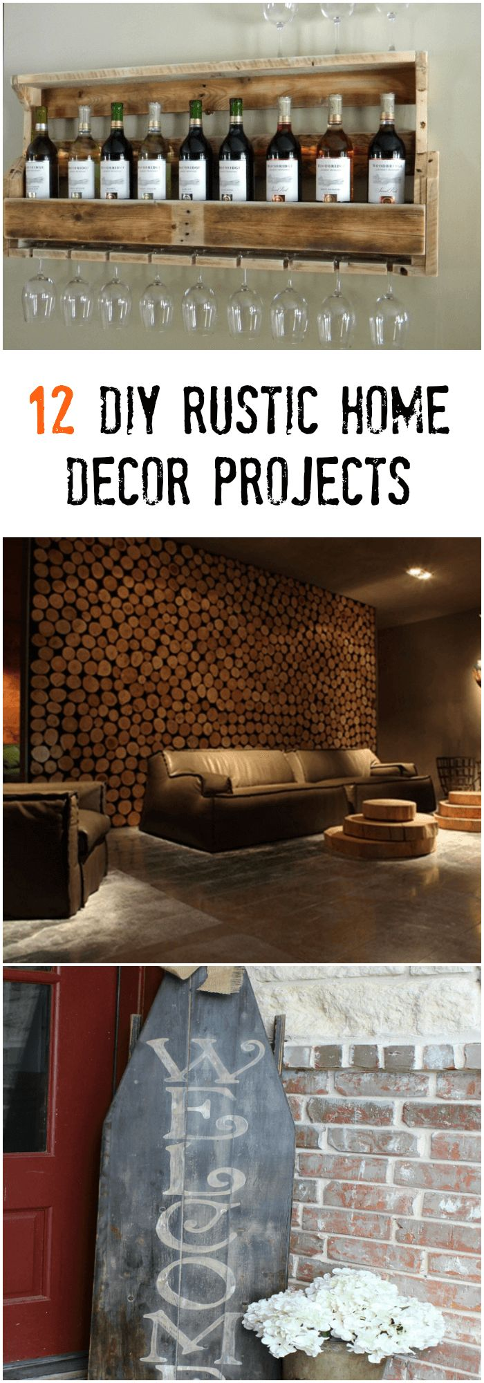 12 DIY Rustic Home Decor Projects For All Rustic Design Lovers #diy #projects #home #decor #rustic #design