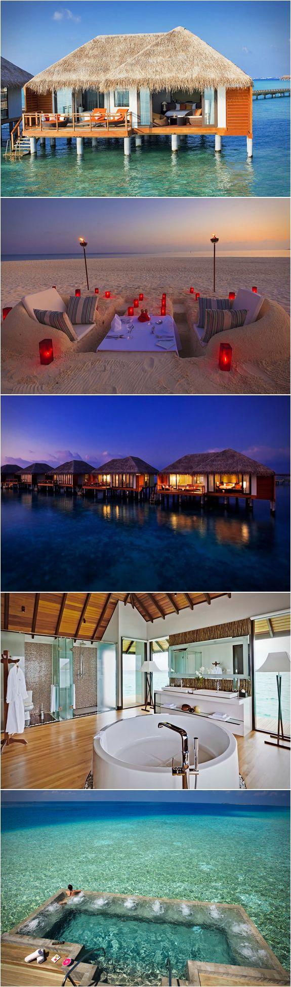 Velassaru Resort, Maldives. Future Honey Moon destination? I think hell yes.