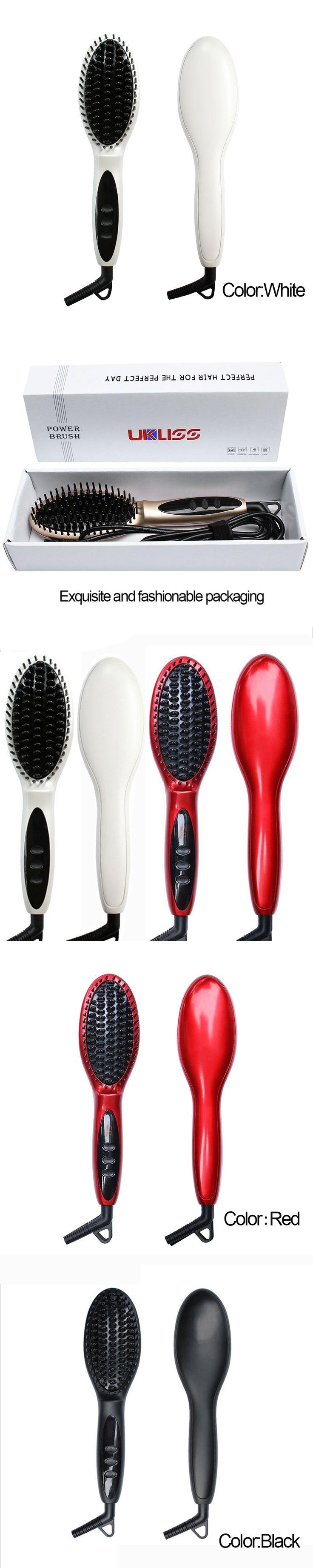 2017 Constant Temperature Hair Brush Fast Hair Straightener Comb hair Electric brush comb Irons Auto Straight Hair Comb brush