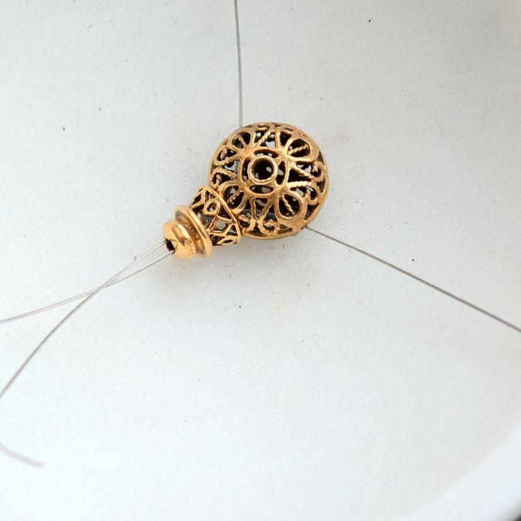 Round Flat Bronze Bead for Mala Making, Guru Bead Set, Double Dorje, Three Holes, 13mm, 7mm Column Bead, Finishing Beads, Connector, One Set by WanderlustWorldArts on Etsy