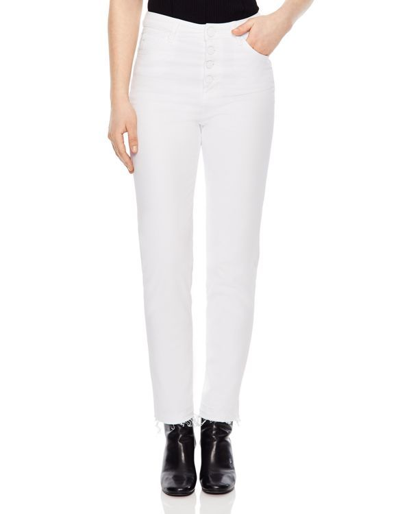 Sandro Sete Straight-Leg Jeans in White