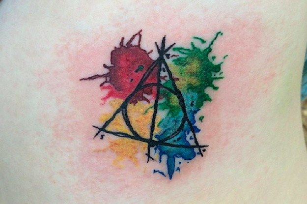 26 Stunning Harry Potter Tattoos That Will Give You All The Feels (more ideas for getting the Deathly Hallows tat)