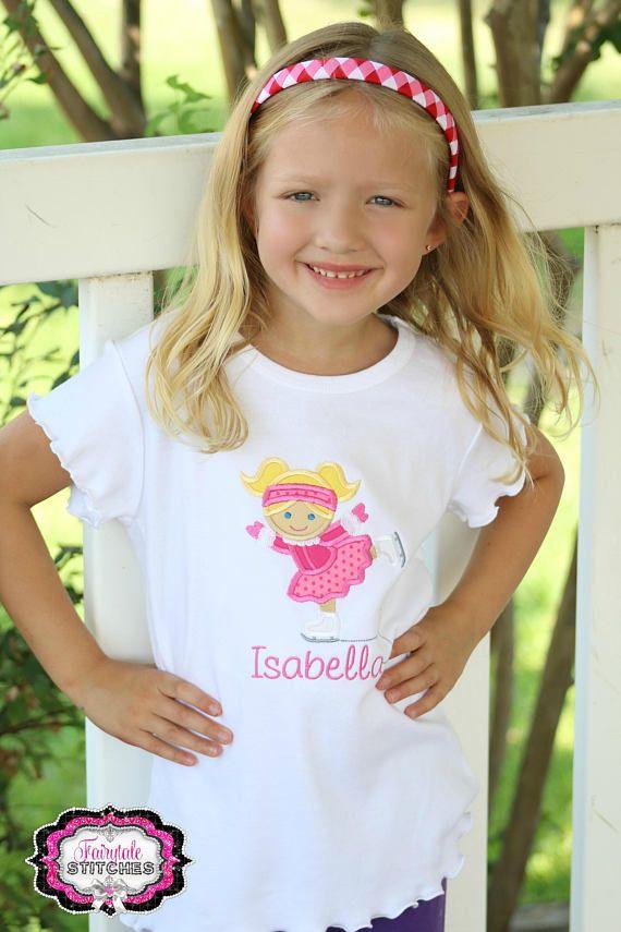 Ice Skate Applique T-shirt or Bodysuit Ice Skate Shirt Ice