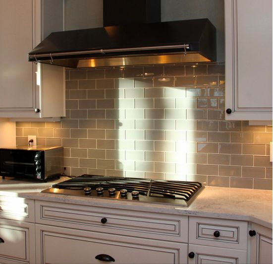 """Looking for a springtime spruce up.  Adding a 3x6"""" Glass Tile backsplash can be one of the easiest and most cost effective ways to improve the kitchen.  Add your own touch to the kitchen and with Free Shipping and just $9.95 a square foot."""