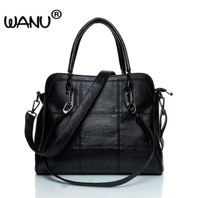 WANU Leather <b>luxury</b> Handbags <b>women bags</b> Sheepskin <b>Female</b> ...