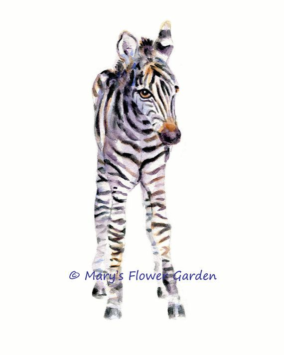 Zebra Print Kindergarten drucken Zebra Dekor von Marysflowergarden