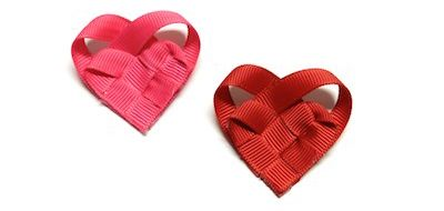 Valentine's Day Crafts: Woven Ribbon Hearts