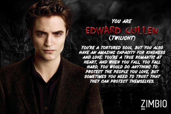 I took Zimbio's vampire quiz and I'm Edward Cullen! Who are you? #ZimbioQuiz