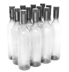 Plastic Wine Bottles & Screw Caps Clear 750ml - Pack of 12 2-Day Delivery | eBay