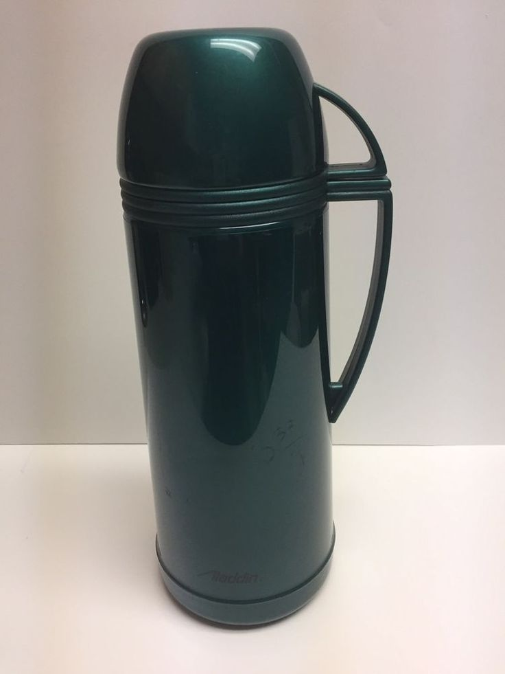 Aladdin Thermos Vacuum Bottle/Thermos Approx 1 Quart or 1.0 Liter Green #Aladdin
