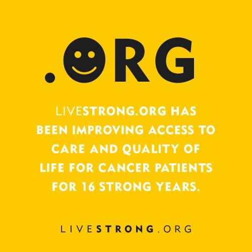 Some people get confused between LIVESTRONG.ORG & LIVESTRONG.COM. So here it is: .ORG focuses on cancer support. .COM focuses ...
