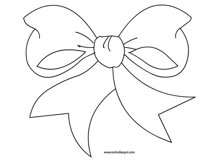 Fiocco: disegno da colorare - TuttoDisegni.com