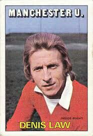 Denis Law of Man Utd in 1972.