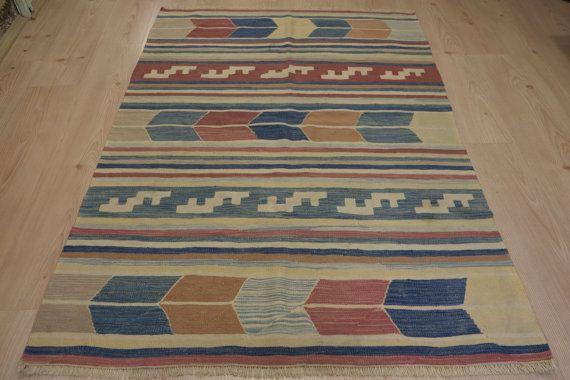 Handwoven rug handwoven wool rug handwoven kilim rug by kilimci