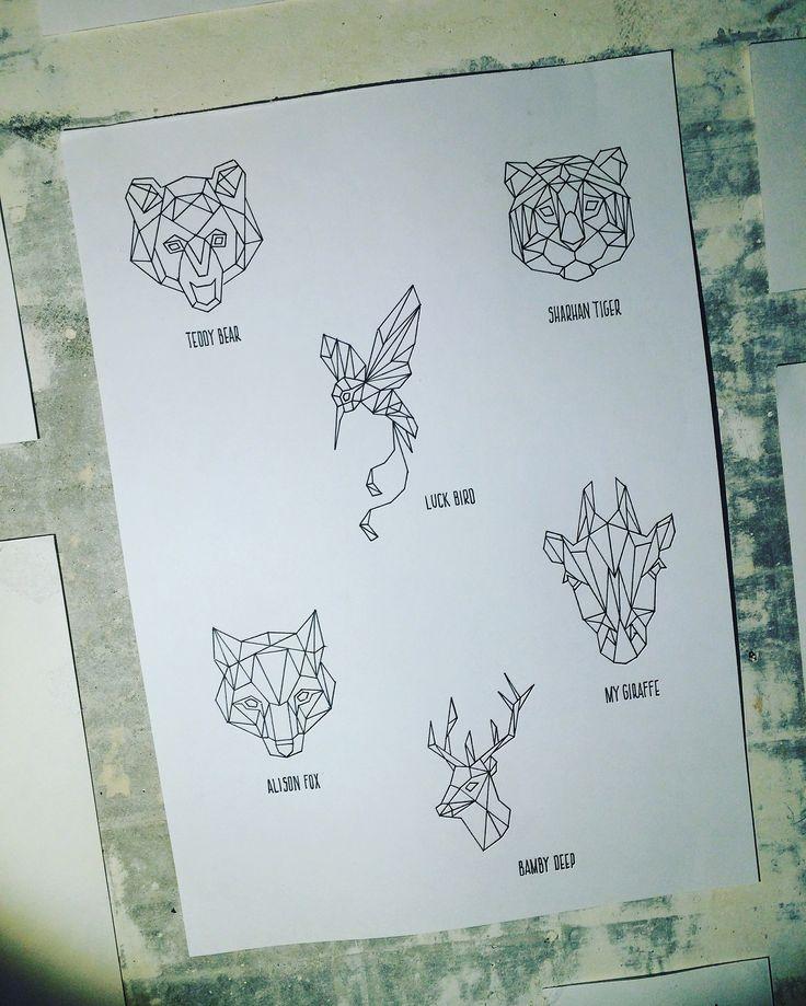 Origami #jdtattoostudio #tattoo #tiger #bear #bird #медведь #оригами #птичка #колибри #жираф #олень #тигр #лиса #origami #animal #fox #deep #giraffe #эскиз #акварель #watercolor #aquarelle #sketch #jd #тату #татуировка