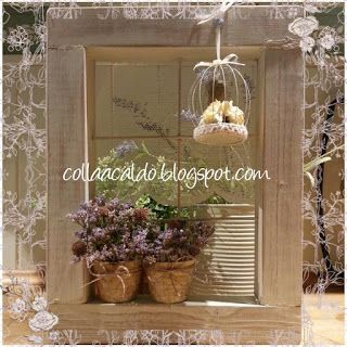 collaacaldo: Finestra decorativa in stile Shabby Chic ricicland...