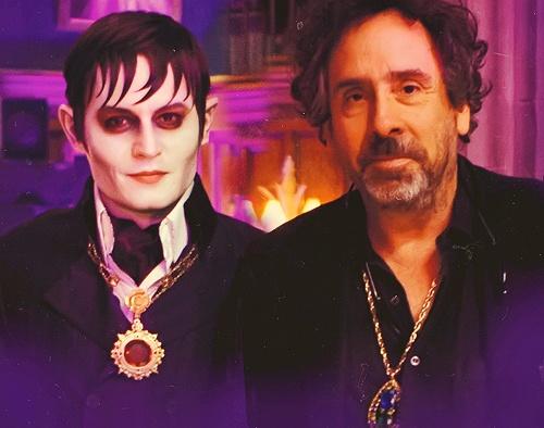 Tim Burton & Johnny Depp on the set of Dark Shadows