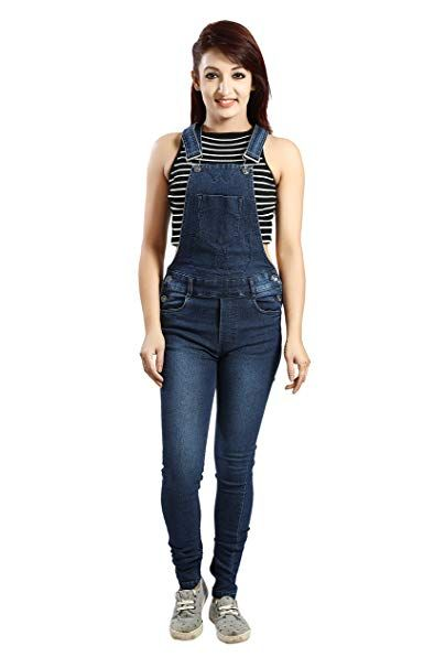 8d4250f7571c 2019 FCK-3 Women s Faded Wash Stretchable Denim Dungaree
