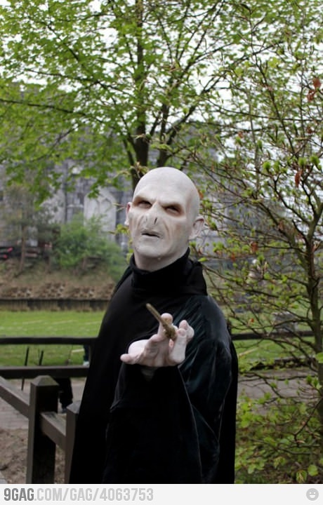 Harry Potter Voldemort: Now THIS is a good cosplay. View more EPIC cosplay at http://pinterest.com/SuburbanFandom/cosplay/