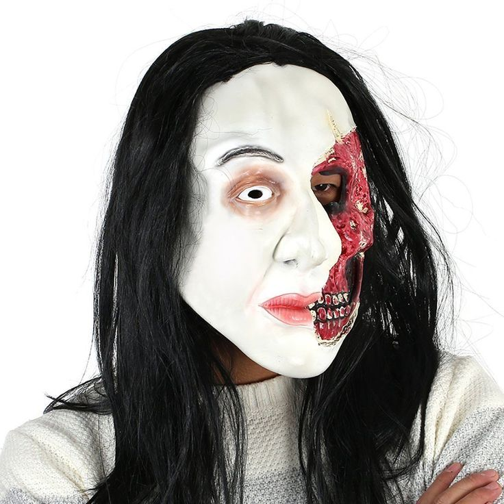 Cool Awesome Scary Creepy Half Face Horror Mask Adults Halloween Costume Cosplay Props Party 2017-2018