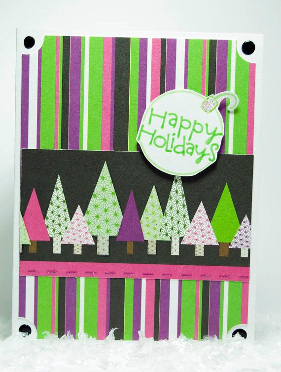 Happy Holidays by stampingmamaof2 on Etsy