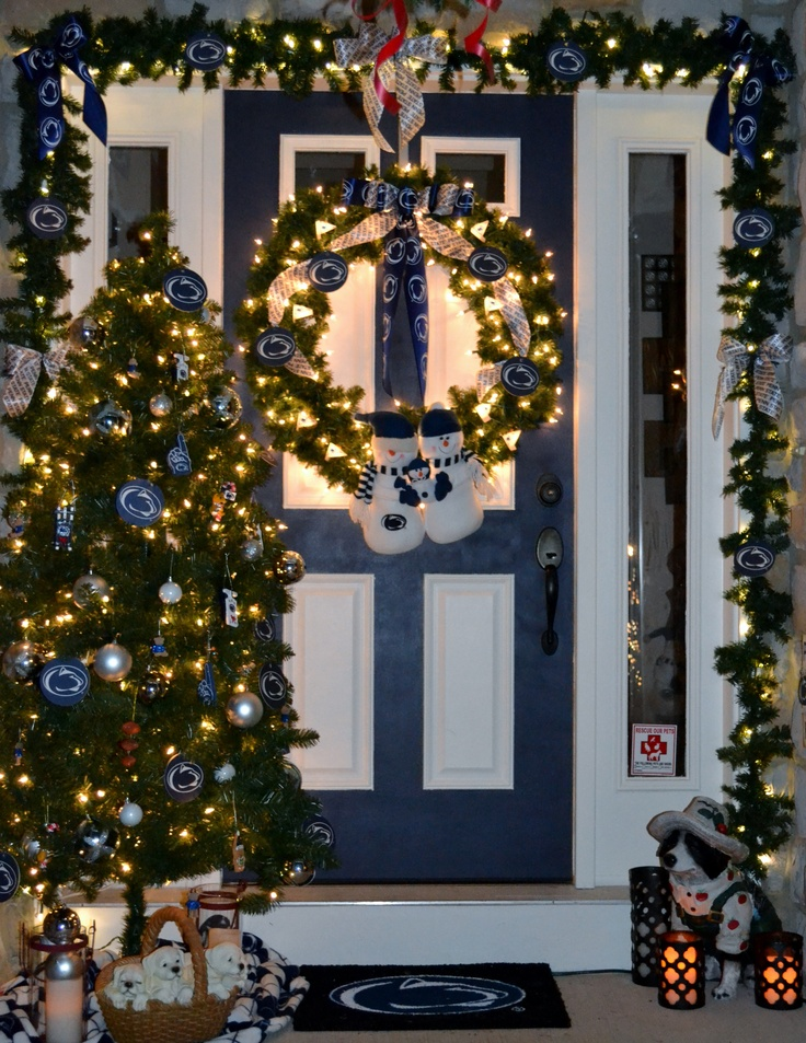 My Penn State Christmas Decorations On Front Porch For 2017