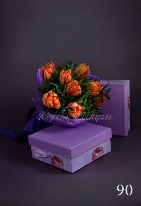"""Очаровательный мини букет - изящный подарок для любой женщины.  Заказать букеты и композиции из живых цветов можно в студии флористики  """"Корал Шарм"""" coralcharm.ru"""