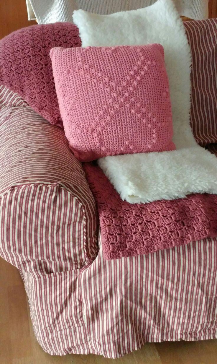 ##*******Slipcover Loveseat Surefit Burgundy Ticking Stripe NWT