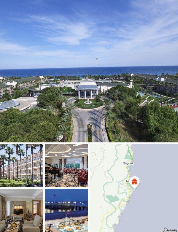 O luxuoso hotel oriental goza de uma localização de sonho junto a uma vasta praia de areia/cascalho com pontão. Encontra-se na zona turística de Kiris-Kemer. Após cerca de 500 m alcançará vários estabelecimentos comerciais e locais de entretenimento. A cidade de Kemer localiza-se a cerca de 6 km. Do hotel terá boas ligações de miniautocarros dolmus. Antalya situa-se a aproximadamente 65 km. Aqui encontrará o aeroporto com o mesmo nome.