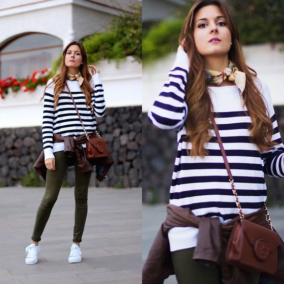 Get this look: http://lb.nu/look/8206743  More looks by Marianela Yanes: http://lb.nu/marilynscloset  Items in this look:  H&M Jersey, Guess Bag, Adidas Sneakers   #casual #classic #sporty