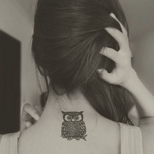 Owl tattoo, love the placement! tattoo owltattoo owl