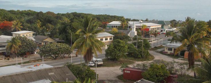 The main street! #Nauru A Sunset On Nauru http://jouljet.blogspot.com/2014/01/a-sunset-on-nauru.html