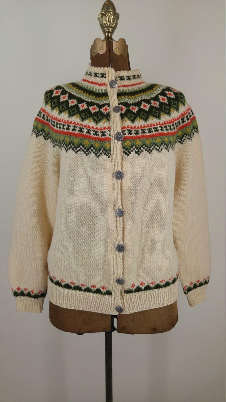 Husfliden Nordic Sweater Handmade Vintage by OutofthePastClothing