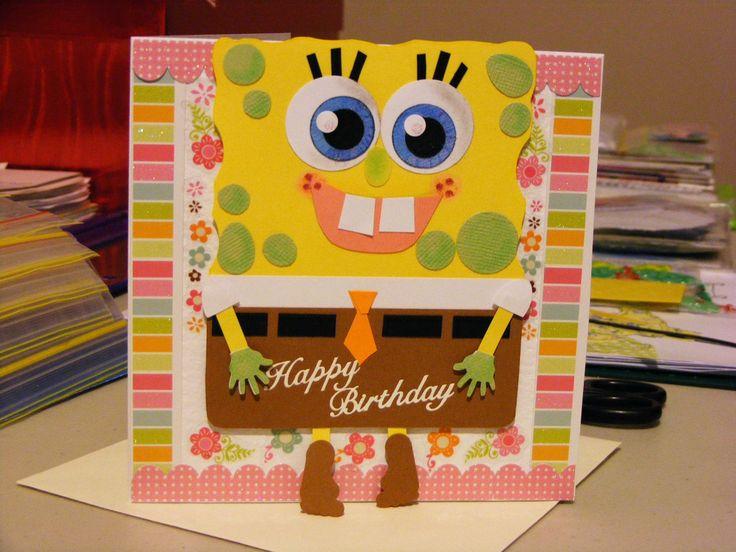 Girls Sponge Bob Squarepants Card I made for my gorgeous niece