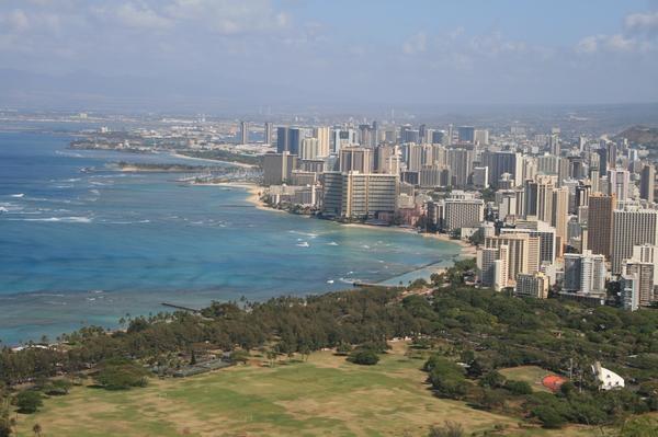 View of Honolulu from top of Diamond Head  LONNNNG walk up but <3ed it!!