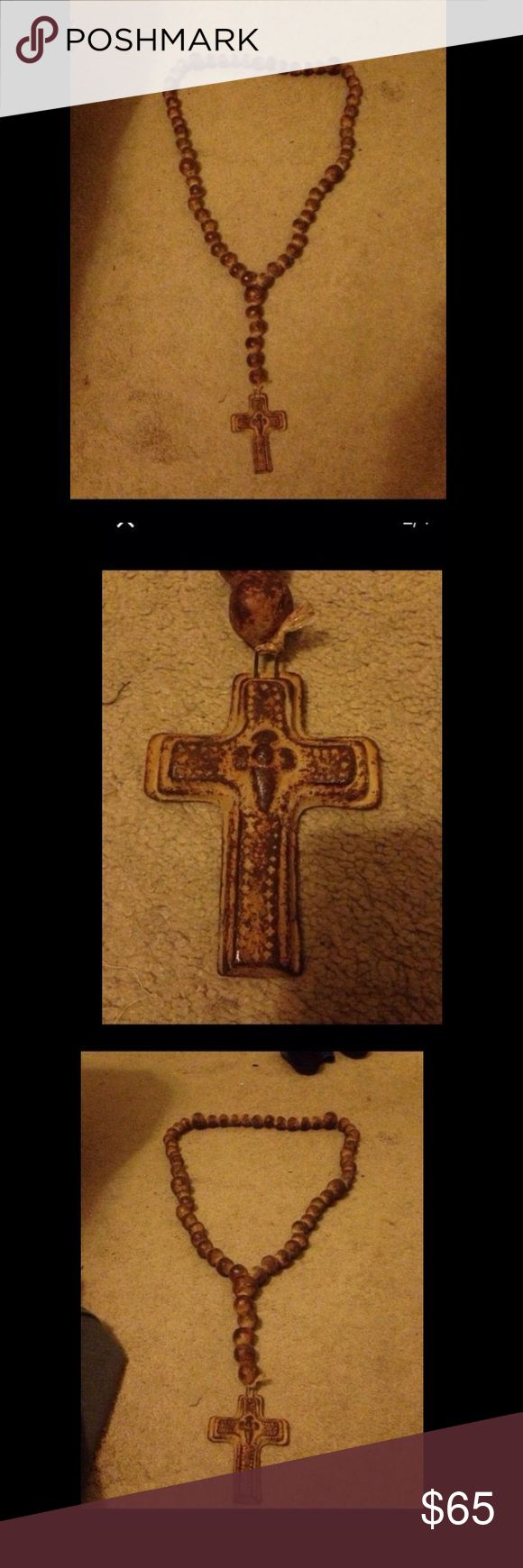 Terracotta Rosary This is a absolutely beautiful Rosary to hang on your wall it's made from Terracotta open to reasonable offers please consider Posh fees thank you for looking Other