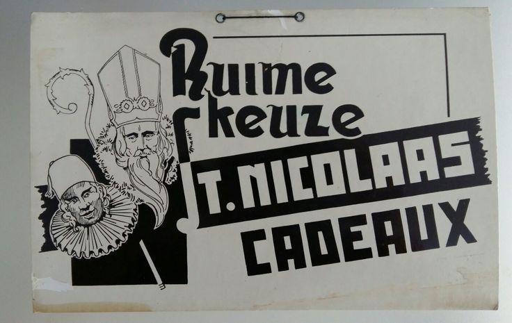 St. Nicolas / Sinterklaas etalagebord