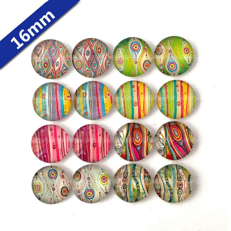 16mm round glass cabochon peacock feathers pictures mixed pattern fit base earring setting for jewelry flatback 16pcs/lot