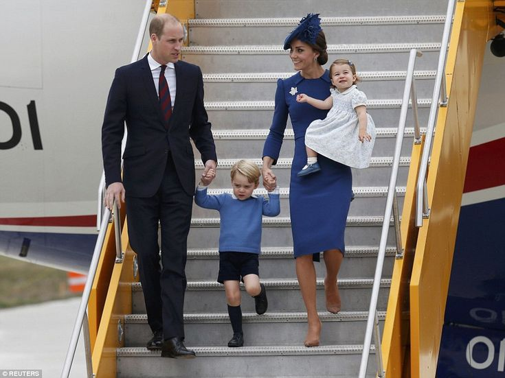 Prince Wiliam, Princess Catherine, Prince George and Princess Charlotte in Canada. Day 1. 24-9-2016