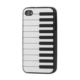 iPhone 4 piano silikonisuojus.