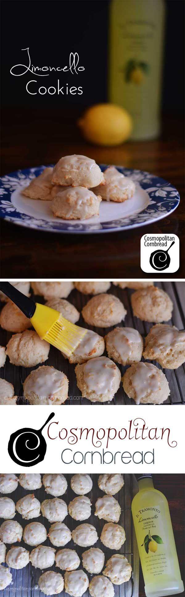 Italian inspired Limoncello Cookies from Cosmopolitan Cornbread #SundaySupper: