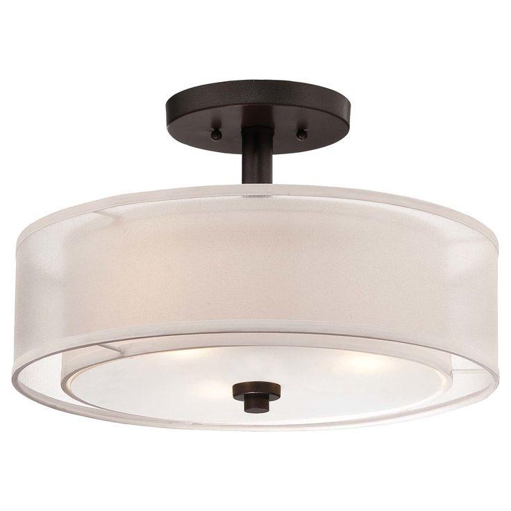 $107.91 Minka Lavery Parsons Studio 3 Light Semi-Flush Mount