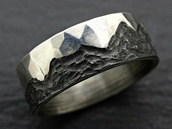 #outdoors #mountain #wedding #rustic #silver #ring